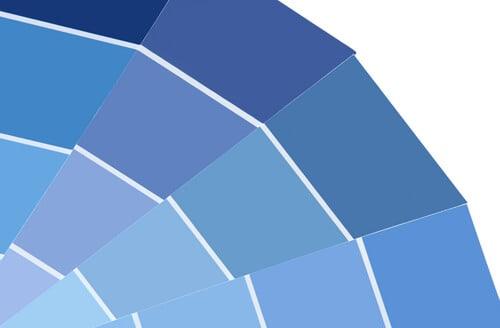 cool blue winter colour palette