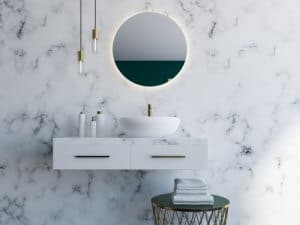 marble bathroom trend