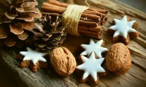 cinnamon sticks and christmas cookies christmas scents
